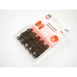 Plastic Snap Fasteners 10mm black - 20pcs/card