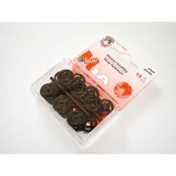 Plastic Snap Fasteners 13mm black - 15pcs/card