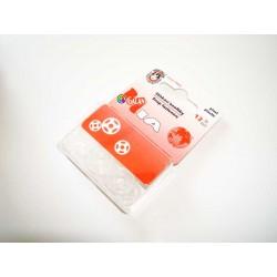 Plastic Snap Fasteners 15mm transparent - 12pcs/card
