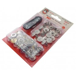 Press Buttons WUK Watertight 5/6 (13,5mm) - nickel plated - 15pcs/card