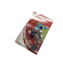 Self covered buttons 12mm - 10pcs/card