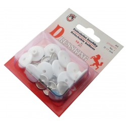 Detachable Buttons Dressking 17 - white - 10pcs/card