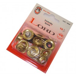 Steel Eyelets with washers 8 - brassed - 10pcs/card