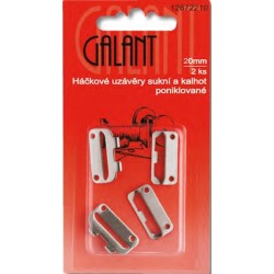 Skirt Waistband Fasteners 20 mm, nickel plated - 2pcs/card