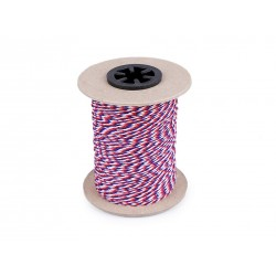 Twisted cord - tricolor 1,4 mm - 100m