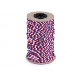 Twisted cord - tricolor 2 mm - 100m