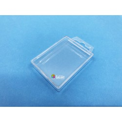 Plastic box with hanger 75x57x14mm - 1pcs