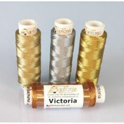 Thread VICTORIA 1 - silver - 100m/spool-10spools/polybag