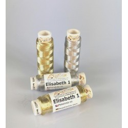 Thread ELISABETH 1 - silver - 100m/spool-10spools/polybag