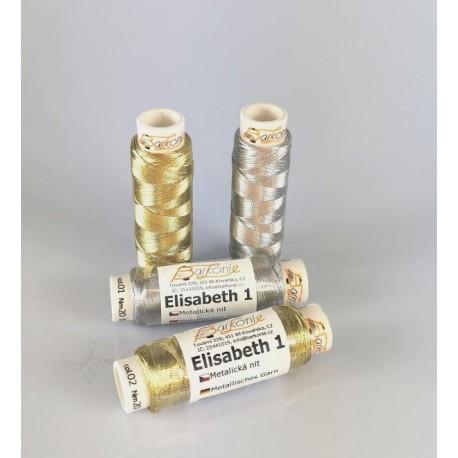 Thread ELISABETH 1 - gold - 100m/spool-10spools/polybag