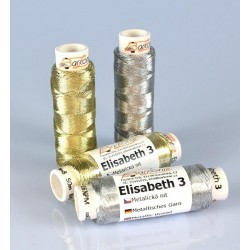 Thread ELISABETH 3 - silver - 50m/spool-10spools/polybag