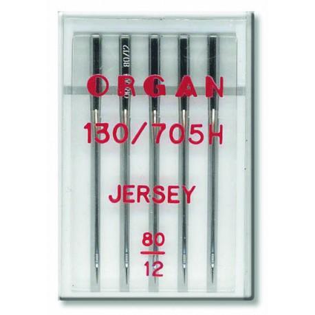 Machine Needles ORGAN JERSEY 130/705H - 80 - 5pcs/plastic box