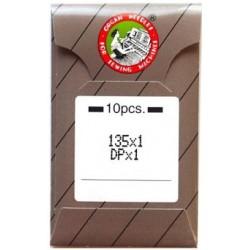 Industrial Machine Needles ORGAN DPx1 - 125/20 - 10pcs/card