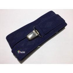 Men's Braces Suspenders width 3cm length 125cm, Y-Shape - c.dark blue with points - 1pcs