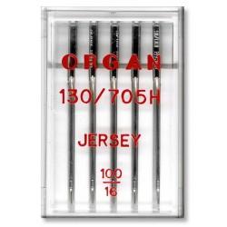 Strojové jehly ORGAN JERSEY 130/705H - 100 - 5ks/plastová krabička