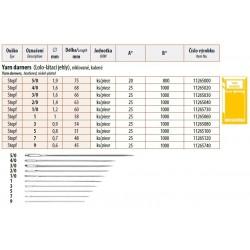 Yarn darners Lo-Lo 5 (0,8x51) - 25pcs/envelope, 40envelopes/box (1000pcs)