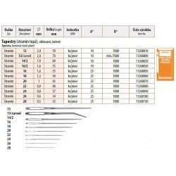 Vyšívací jehly Tapestry - tupé 20 (1,0x43mm) - 25ks/psaníčko, 40psaníček/krabička (1000ks)