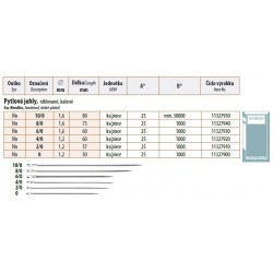 Sac Needles 10/0 (1,6x80) - 25pcs/envelope, 40envelopes/box (1000pcs)