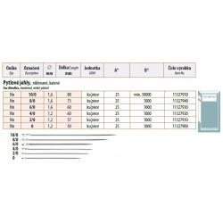 Sac Needles 6/0 (1,6x60) - 25pcs/envelope, 40envelopes/box (1000pcs)
