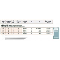 Saddler Needles with point 0 (1,3x80) - 25pcs/envelope, 40envelopes/box (1000pcs)