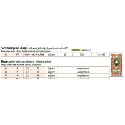 Hand needles Sharps gold eyes 9 (0,6x34) - 25pcs/envelope, 40envelopes/box (1000pcs)