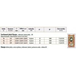 Hand needles Sharps Assort 5/9 - 25pcs/envelope, 40envelopes/box (1000pcs)