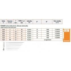Needles Crewel 5 (0,8x41) - 25pcs/envelope, 40envelopes/box (1000pcs)