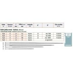 Packing Needles Straight - hardened 5 (2,4x127) - 25pcs/envelope - 40envelopes/box (1000pcs)
