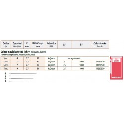Self-threading needles 9 (0,7x34) - 25pcs/envelope, 40envelopes/box (1000pcs)