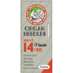 Machine Needles ORGAN HAx1 130/705H - 90/14 - 5pcs/package