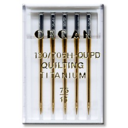 Machine Needles ORGAN QUILTING TITANIUM 130/705H - QUPD - 75 - 5pcs/plastic box