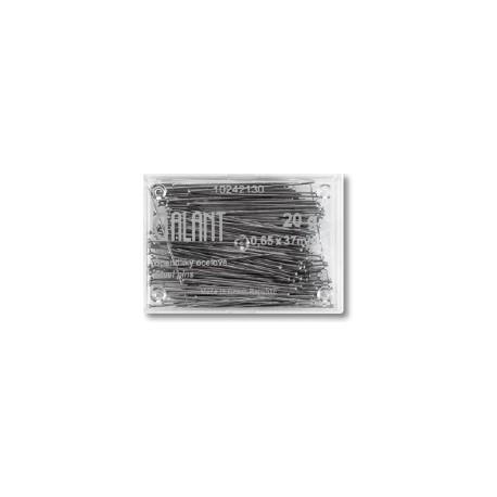 Hard Steel Straight Pins 37x0,65mm - 20g/plastic box