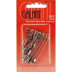 Mild Steel Safety Pins 0–3 nickel - 12pcs/card