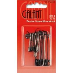 Mild Steel Safety Pins 0–3 nickel-black- 12pcs/card
