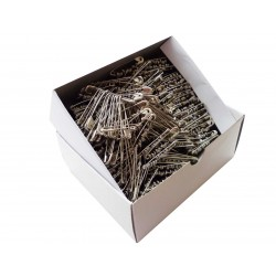 Safety Pins ECONOMY - 37mm - nickled - 864pcs/box (11/12 - in bunches)