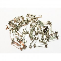 Safety Pins Brooch - 20mm - 1000pcs/polybag