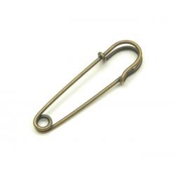 """Safety Pins Decorative """"Kilt"""" - 63mm - old brass - 1pcs"""